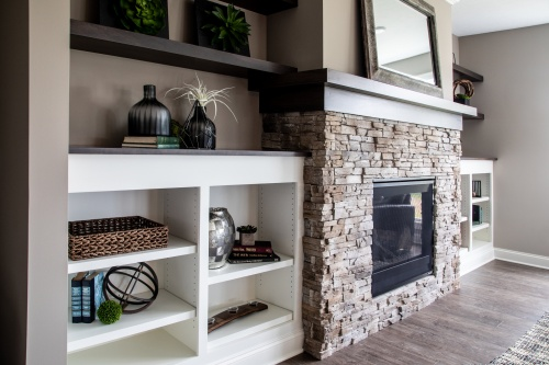New Home Construction - Custom Fireplace Mantle