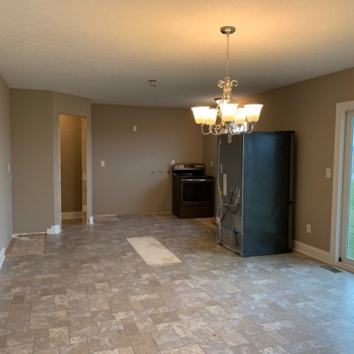 custom home remodel before kitchen